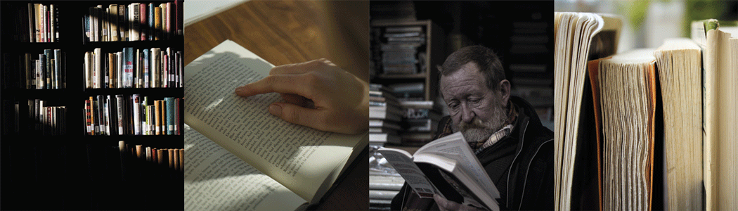Photos of books and reading