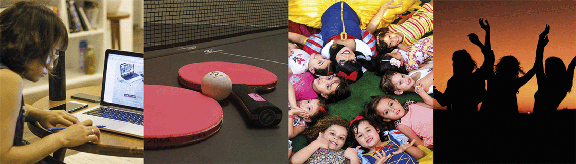 Young people and table tennis