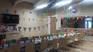 Photo of TG room decorated for a party