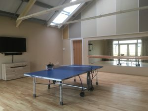 TG room with table tennis table